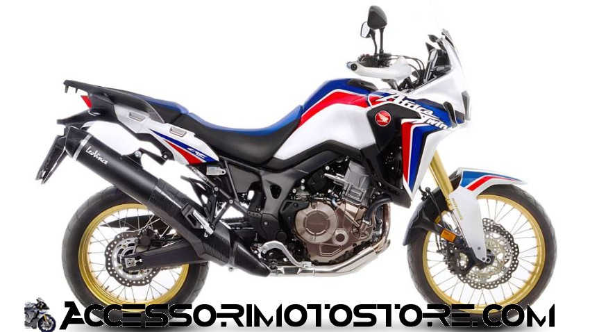 Terminale NERO in inox AFRICA TWIN 1000 ABS Leovince cod.14044